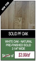 Solid Pre-Finished Natural Oak Hardwood Flooring