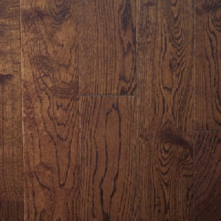 White oak mocha solid prefinished hardwood flooring for Prefinished flooring